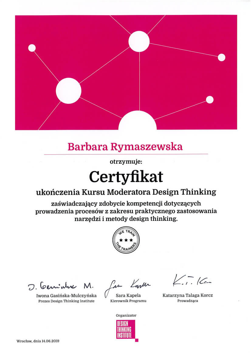 kurs moderatora design thinking